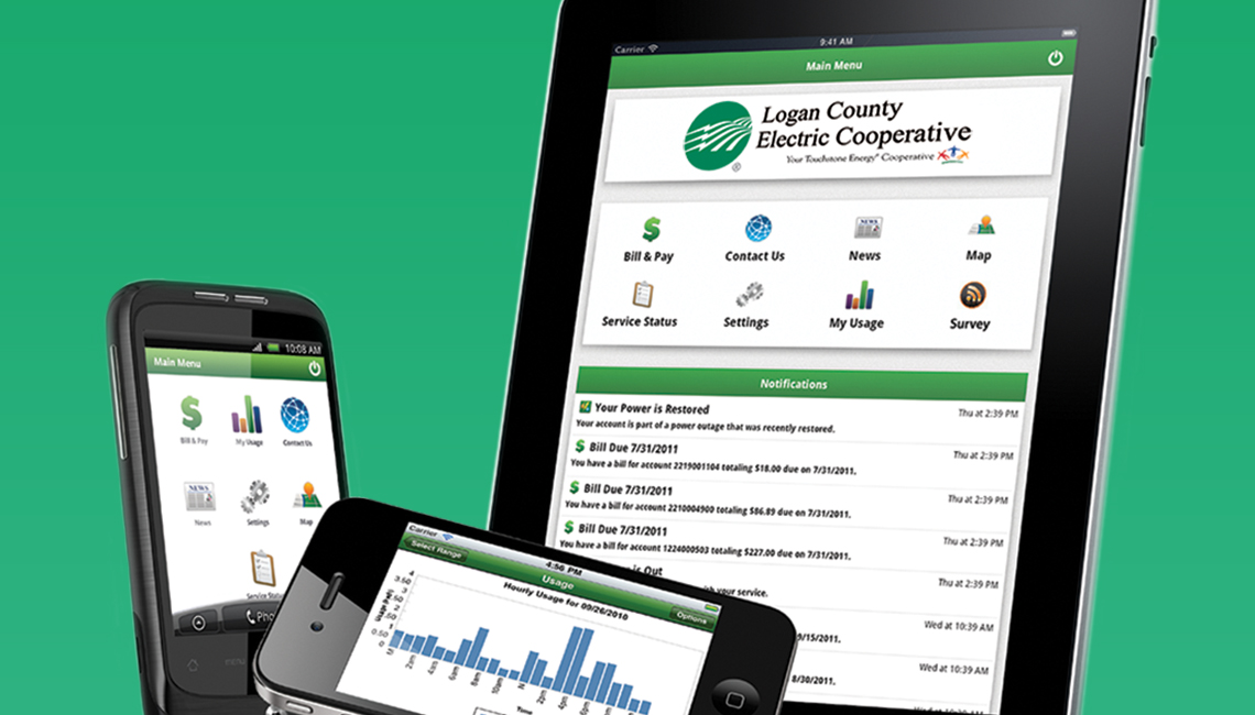 Co-op SmartHub app on mobile devices