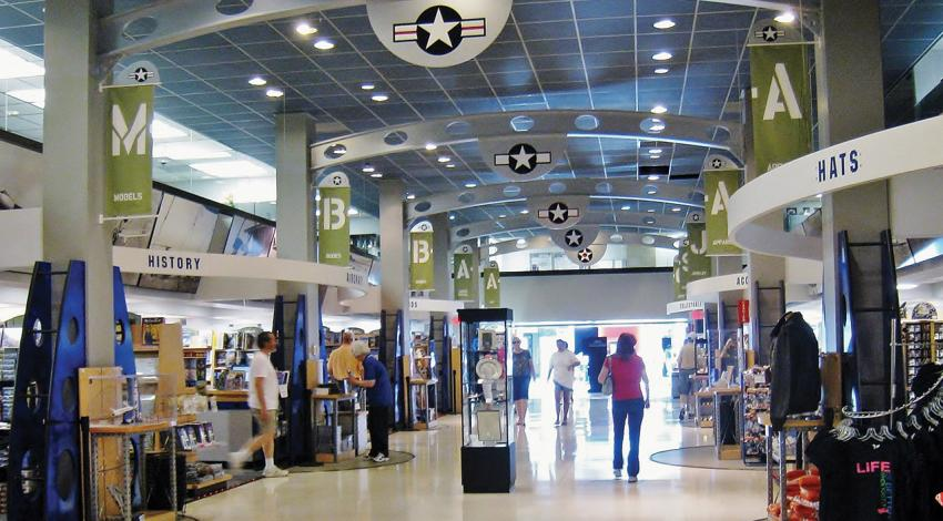A photo of the National Museum of the United States Air Force gift shop.