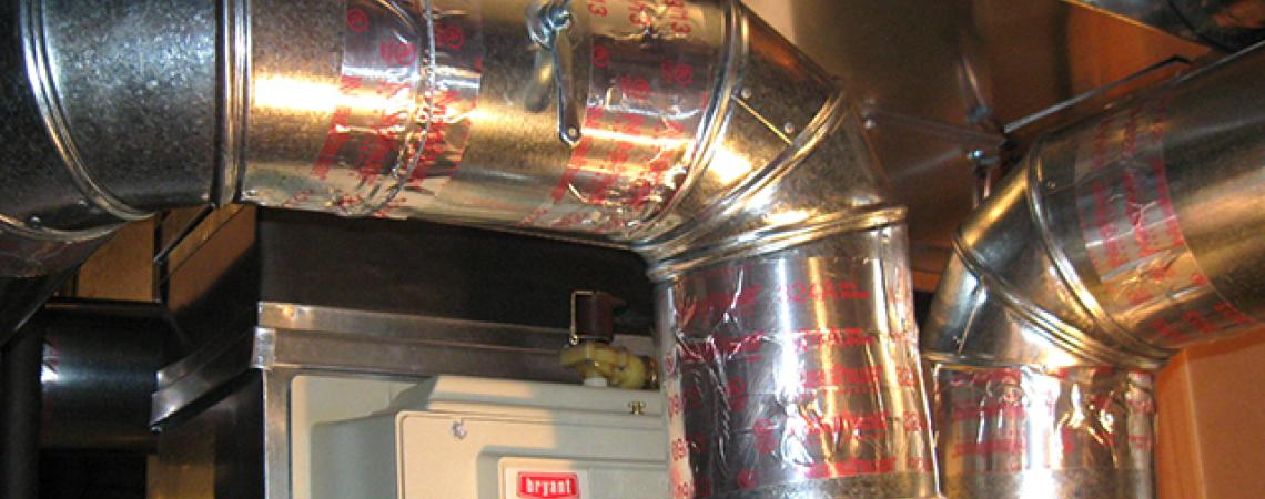 A picture of ductwork in a home.